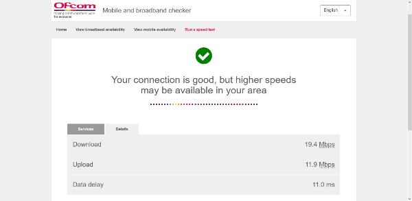 Ofcom mobile and broadband checker