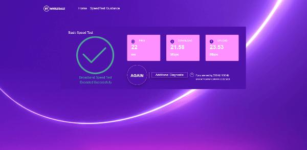 BT Broadband Performance Checker
